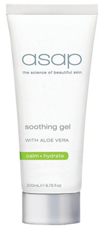 <h3>soothing gel 200ml</H3><span style='font-size:12px;'>The anti-inflammatory properties of Aloe Vera, Sage and White Tea promote healing, calm the skin and reduce the appearance of redness.<BR><BR>